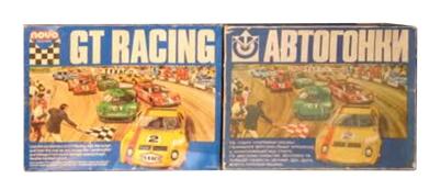 GT racing set box UK and USSR