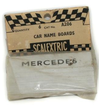 A206 Car Name Boards Mercedes bagged