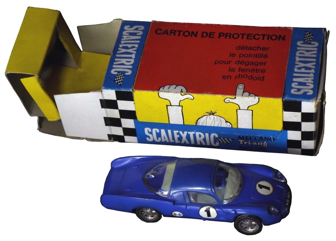 C0001 blue with French calextric Meccano garage box