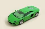 C3660 Lamborghini Aventadore with green interior
