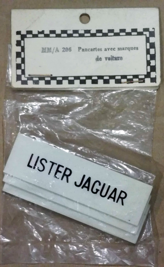A206 French Lister Jaguar name boards PACK3