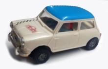 C0045 Mini Cooper Mexican white blue