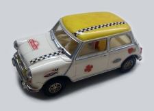 C0045 Mini Cooper Mexican white yellow